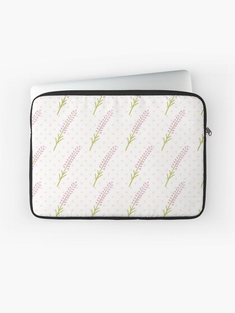 Cute lavender seamless dot pattern  Pretty French background  Pastel  wallpaper    Laptop Sleeve