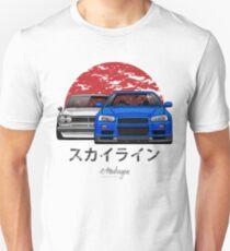 Skyline (R34 & Hakosuka) Slim Fit T-Shirt