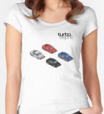 8 bit Lotus Esprit Turbo Pixel (black logo)  Women's Fitted Scoop T-Shirt