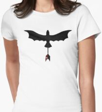 Black Toothless Women's Fitted T-Shirt