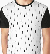 black brush print pattern, hand-drawn Graphic T-Shirt
