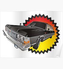 Retro limousine Poster