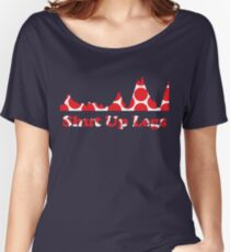 Shut Up Legs Red Polka Dot Mountain Profile Women's Relaxed Fit T-Shirt