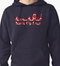 Shut Up Legs Red Polka Dot Mountain Profile Pullover Hoodie