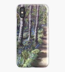 Bluebell path in the Mournes iPhone Case