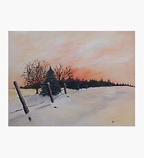 Sunrise in Winter Photographic Print