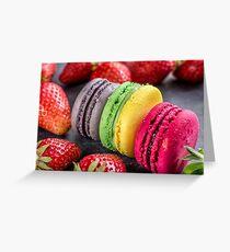 Macarons & strawberries Greeting Card