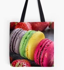 Macarons & strawberries Tote Bag
