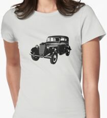 Retro car Women's Fitted T-Shirt