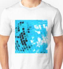Blue Funky Disco Ball Unisex T-Shirt