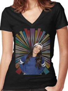 CAMILA CABELLO FROM FIFTH HARMONY CUTE PHOTO Women's Fitted V-Neck T-Shirt