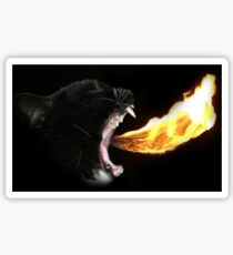 Flame Tongue Kitty Sticker
