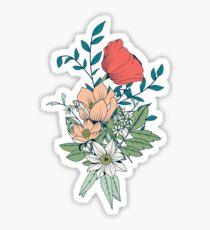 Botanical pattern 001 Sticker