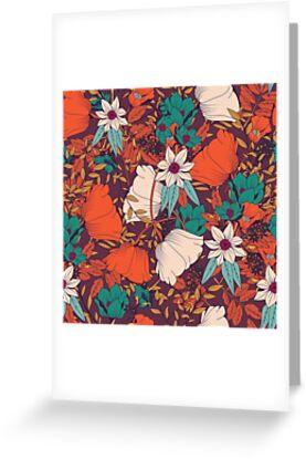 Botanisches Muster 010 von BlueLela