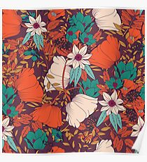 Botanical pattern 010 Poster