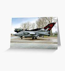 Panavia Tornado GR.4 ZA412 617 Sqn Greeting Card