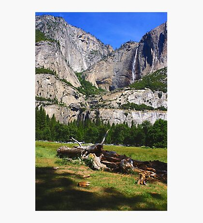 Upper and Lower Yosemite falls Photographic Print
