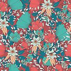 Botanical pattern 014 by BlueLela
