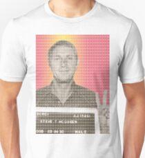 Steve McQueen Mug Shot Unisex T-Shirt