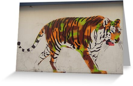 Graffiti tiger by Caroline Clarkson
