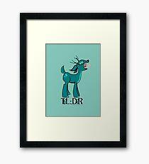 TL;DR Teal Deer Framed Print
