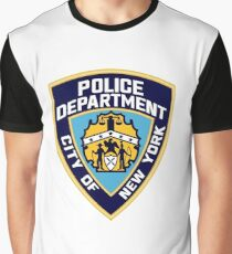 Patch of The New York City Police Department Graphic T-Shirt