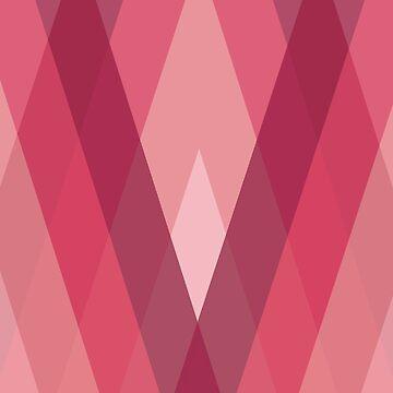 Modern Harlequin Pattern in Pink by ArtformDesigns