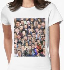 chris evans collage Women's Fitted T-Shirt