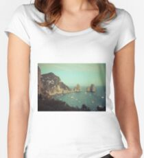 Amalphi coast, Capri, Italy 4 Women's Fitted Scoop T-Shirt