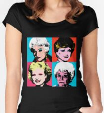 Golden Warhol Girls Women's Fitted Scoop T-Shirt