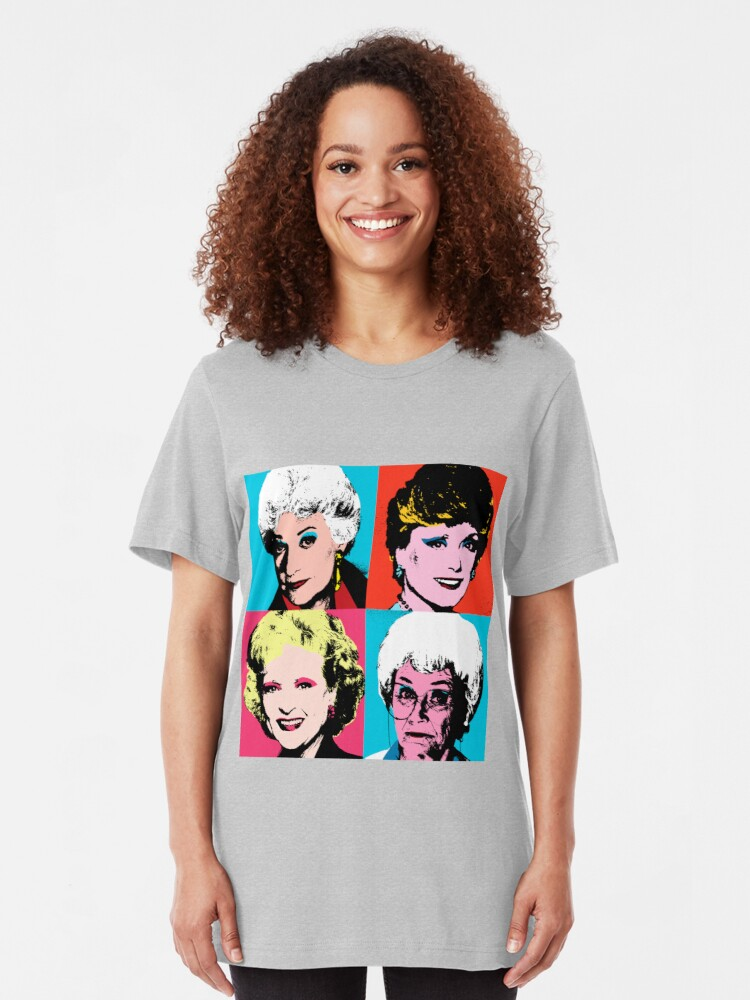 Alternate view of Golden Warhol Girls Slim Fit T-Shirt