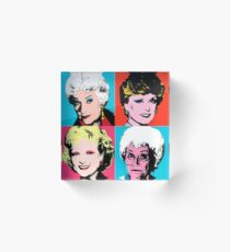 Golden Warhol Girls Acrylic Block