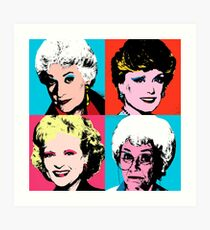 Golden Warhol Girls Art Print