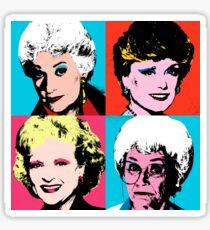 Golden Warhol Girls Sticker