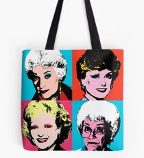 Golden Warhol Girls Tote Bag