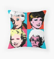 Golden Warhol Girls Throw Pillow