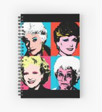 Golden Warhol Girls Spiral Notebook