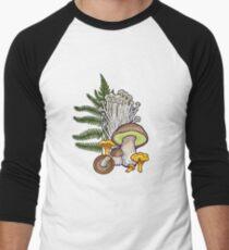 mushroom forest Men's Baseball ¾ T-Shirt