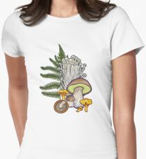 mushroom forest Women's Fitted T-Shirt
