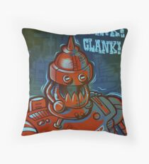 Clank, Clank, Clank Throw Pillow