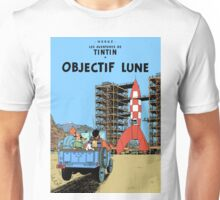 Tintin Destination Moon Cover Unisex T-Shirt