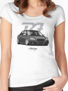 Audi A4 B7 (black) Women's Fitted Scoop T-Shirt