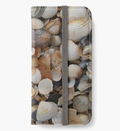 Seashells on the sea shore iPhone Wallet