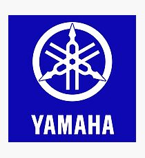 YAMAHA White logo Photographic Print
