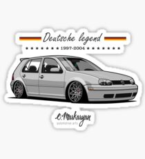 Golf MKIV (grey) Sticker