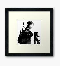 Ellie in the last of us Framed Print
