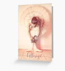 Ballerina with vintage camera Greeting Card