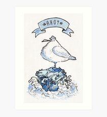 Ahoy Seagull Art Print