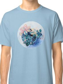 Pastel Succulents - an oil painting on canvas Classic T-Shirt