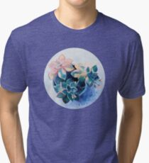 Pastel Succulents - an oil painting on canvas Tri-blend T-Shirt